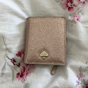 Sparkly pink Kate spade wallet